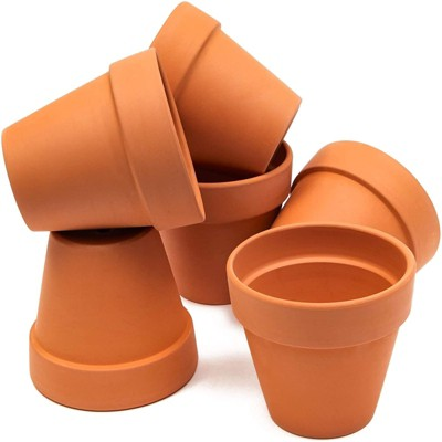 Juvale 6 Pack Terra Cotta Clay Pots, Small Plant Pots, Planters for Succulents & Cactus, 4 x 4 x 3.8 in