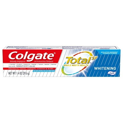 Colgate Total Travel Size Whitening Paste Toothpaste - Trial Size - 1.4oz