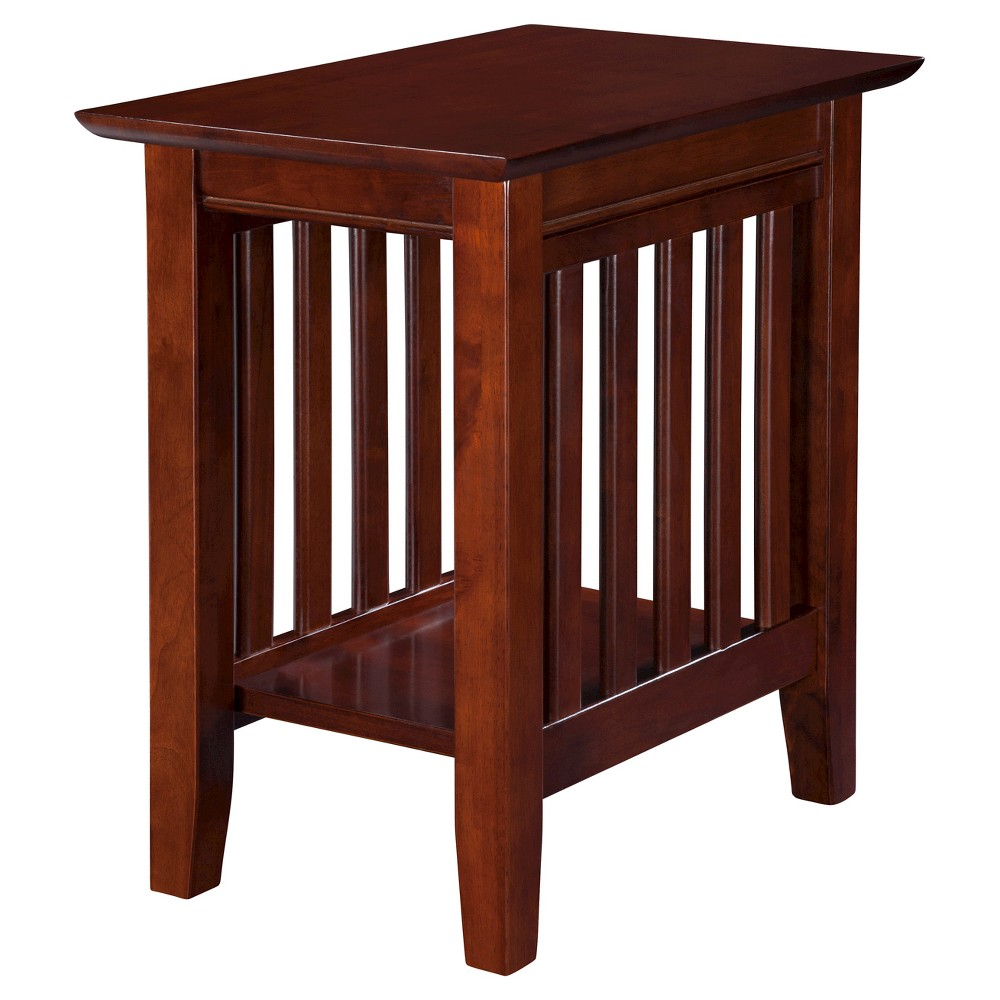Image of Mission Chair Side Table - Walnut - Atlantic Furniture, Brown