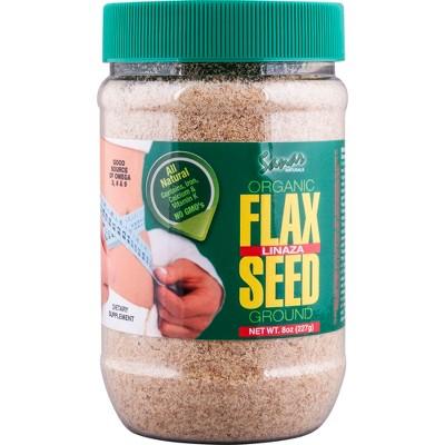 Sanar Naturals Organic Ground Flax Seed - 8oz