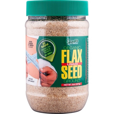 Sanar Naturals Organic Ground Flax Seed - 8oz - image 1 of 4