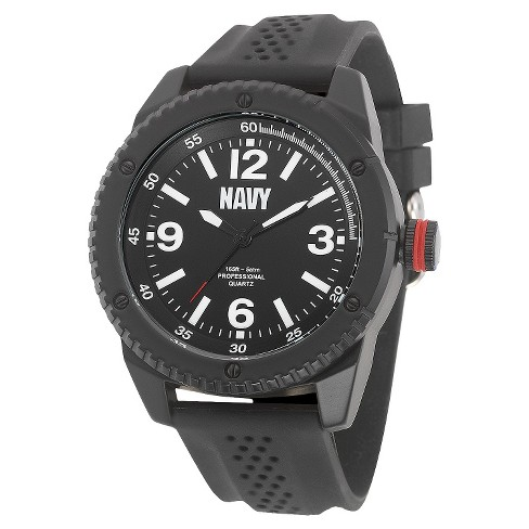 Men's' Wrist Armor U.S. Navy C20 Analog Quartz Watch - Black - image 1 of 5