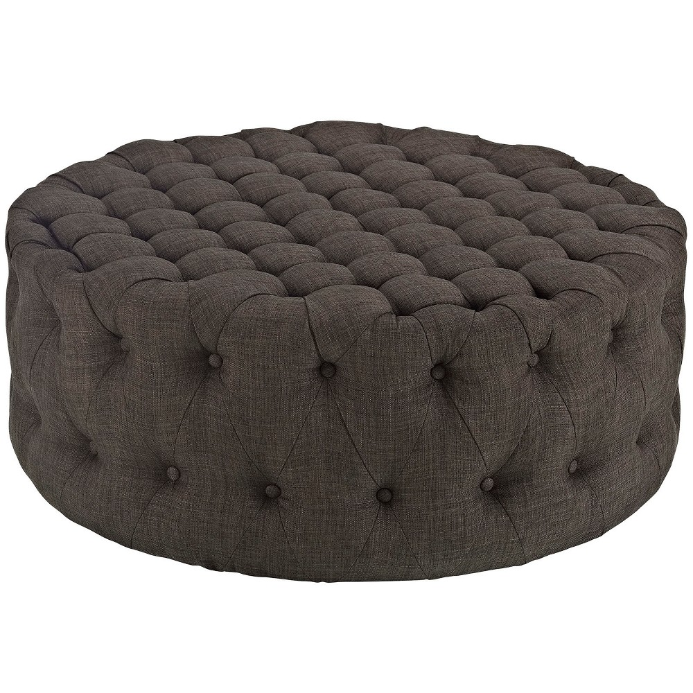 Amour Upholstered Fabric Ottoman Brown - Modway