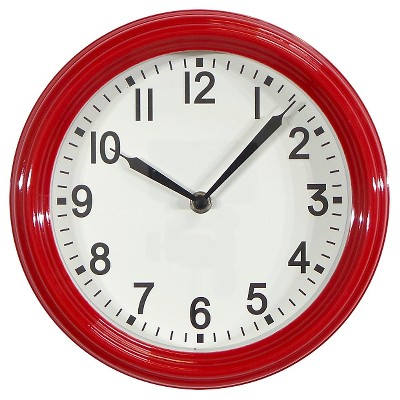 Schoolhouse 10  Wall Clock Red - Threshold™