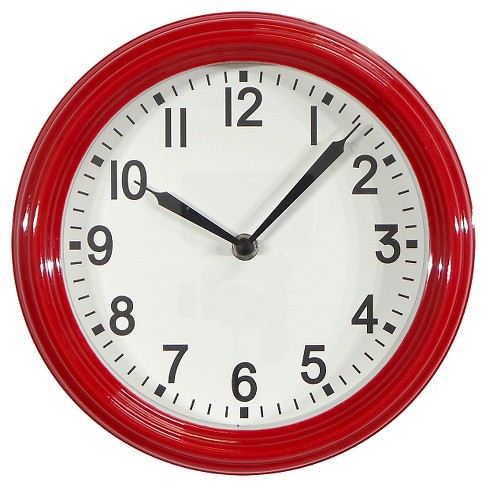 """Schoolhouse 10"""" Wall Clock Red - Threshold™ - image 1 of 2"""
