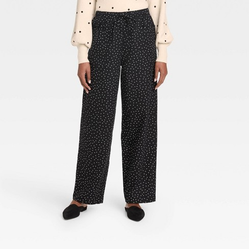 Women's Wide Leg Pant - Who What Wear™ Black - image 1 of 3