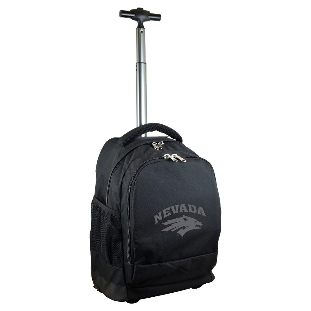 NCAA Nevada Wolf Pack Black Premium Wheeled Backpack