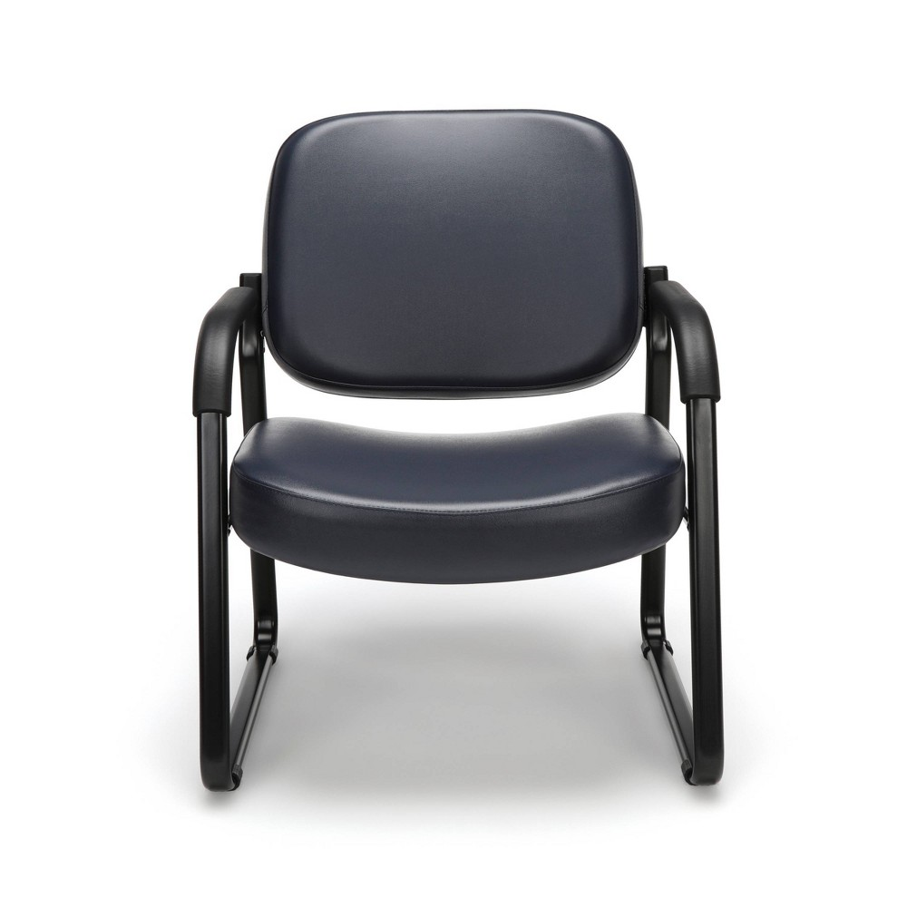 Big & Tall Guest and Reception Chair with Arms Navy (Blue) - Ofm
