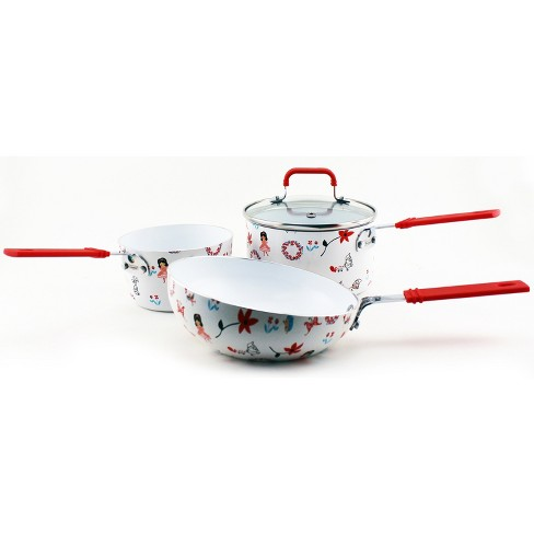 BergHOFF CookNCo 4 Pcs Children's Cookware Set Floral Pattern - image 1 of 4