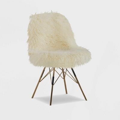 Remy Flokati Chair White - Linon