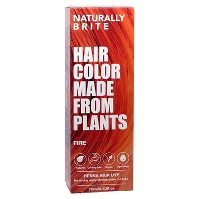 BRITE Naturally Henna Hair Dye Fire - 2.53 fl oz