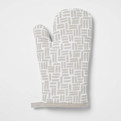 Cotton Printed Kitchen Oven Mitt Gray - Room Essentials™
