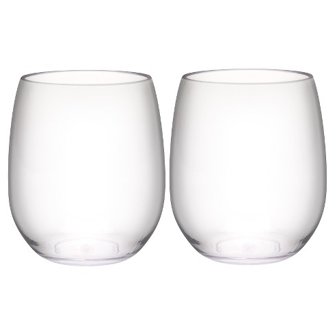 Trinity 15oz Set of 2 Stemless Wine Tumbler Clear - Zak Designs - image 1 of 2