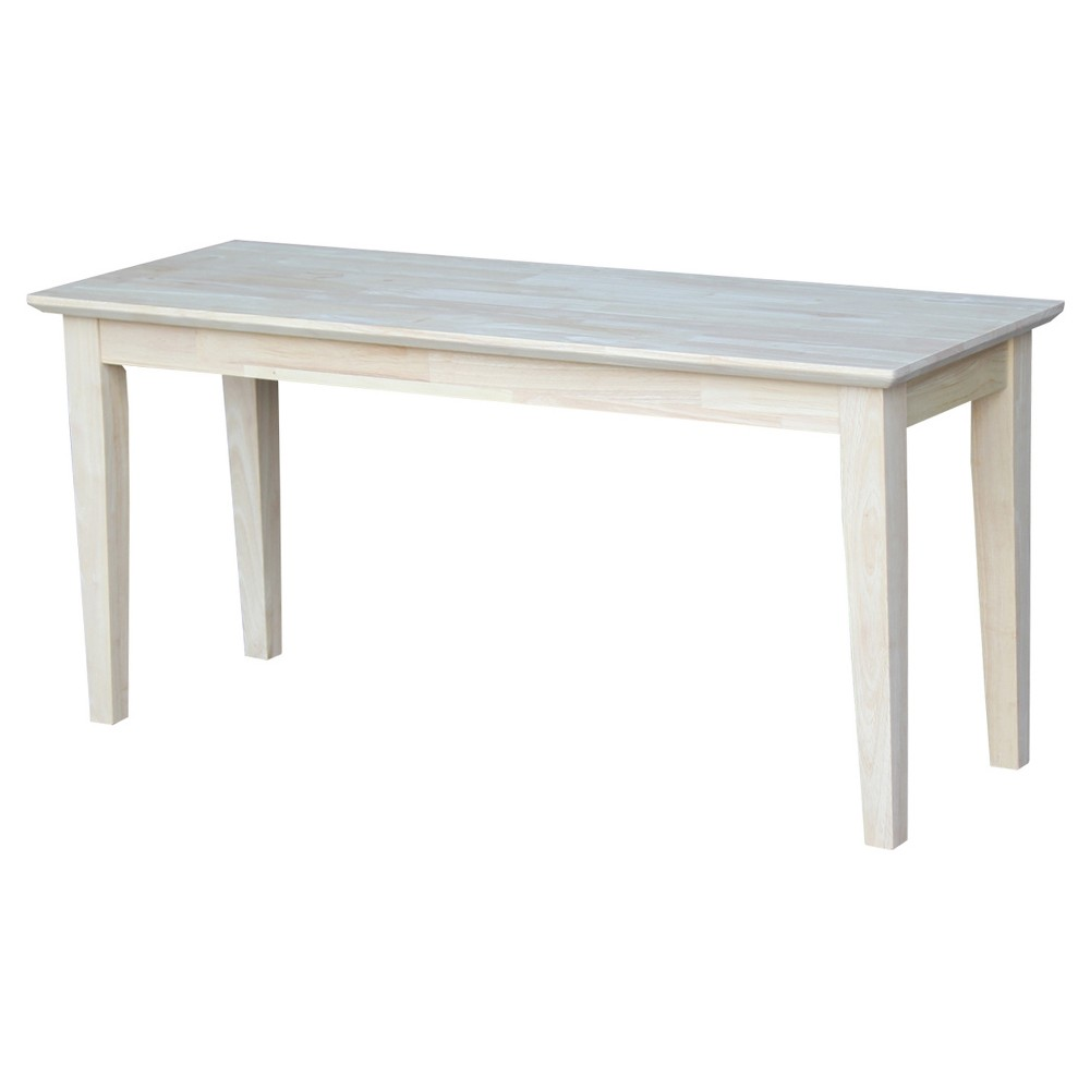 Brookshire Bench - Unfinished - International Concepts