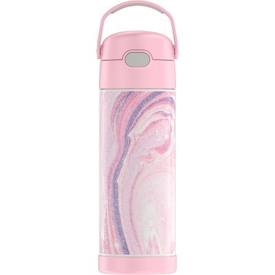 Thermos 16oz FUNtainer Bottle - Pink Marble