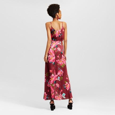 bd84dfc5ff Women s Satin V-Neck Dress - Xhilaration™ (Juniors ) Pink XL   Target
