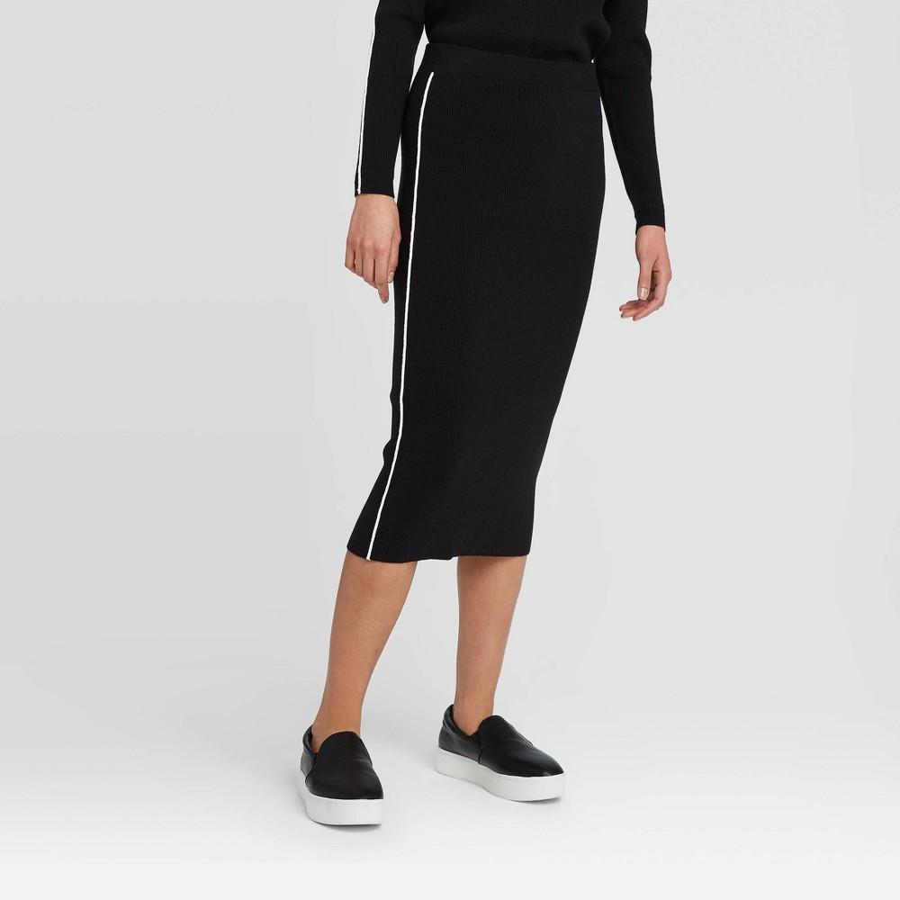 Image of Women's Midi Pencil Skirt - Prologue Black L, Women's, Size: Large