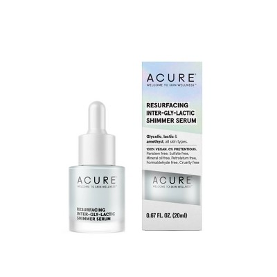 Acure Resurfacing Inter-Gly-Lactic Shimmer Serum - 0.67 fl oz