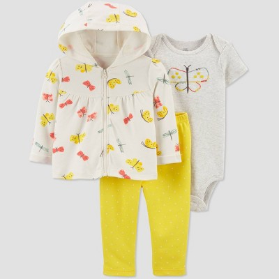 Baby Girls' Butterfly Top & Bottom Set - Just One You® made by carter's Yellow