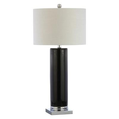 "31.5"" Dallas Ceramic LED Table Lamp Black (Includes Energy Efficient Light Bulb)- JONATHAN Y"