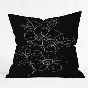 The Colour Study Botanical Illustration Square Throw Pillow Black Deny Designs Target