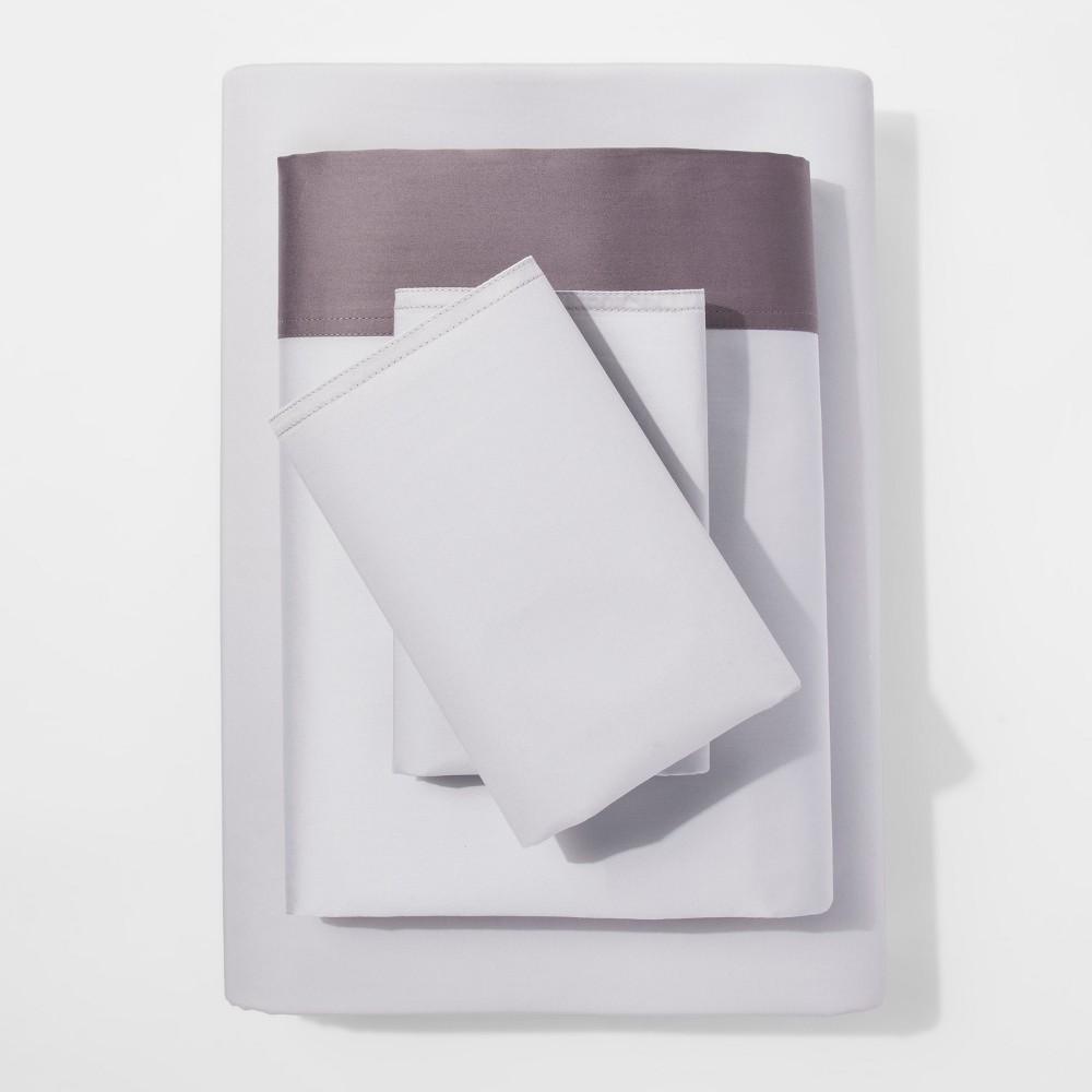Modern Sheet Set (King) Gray Hem 300 Thread Count - Project 62 + Nate Berkus