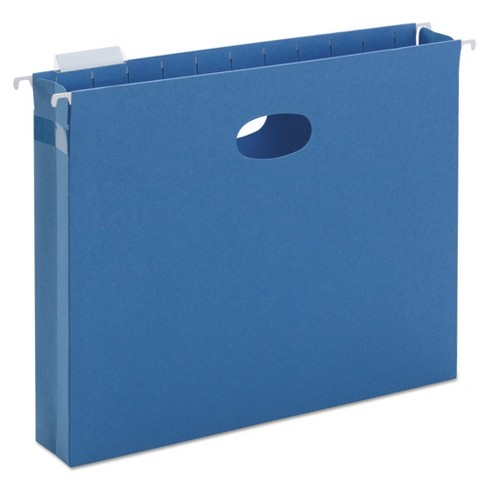 "Smead® 2"" Capacity Closed Side Flexible Hanging File Pockets, Letter, Sky Blue, 25/Box - image 1 of 2"