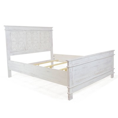 Queen Bianca Bed Rustic White - Linon