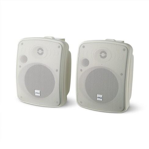 "Pyle PDWR54BTW Bluetooth 600W Waterproof 5.25"" Powered Outdoor Speakers (Pair) - image 1 of 4"