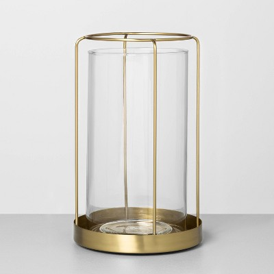 Large Glass / Metal Vase Brass - Hearth & Hand™ with Magnolia