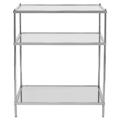 Benton Glam Mirrored Side Table - Chrome - Aiden Lane