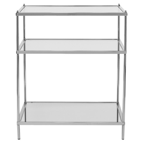 Benton Glam Mirrored Side Table - Chrome - Aiden Lane - image 1 of 6
