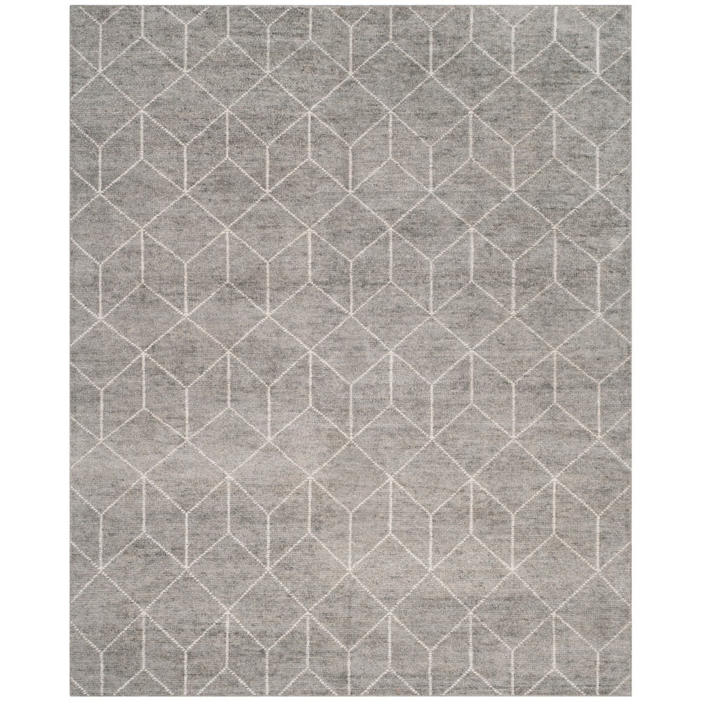 8'X10' Knotted Geometric Area Rug Silver - Safavieh