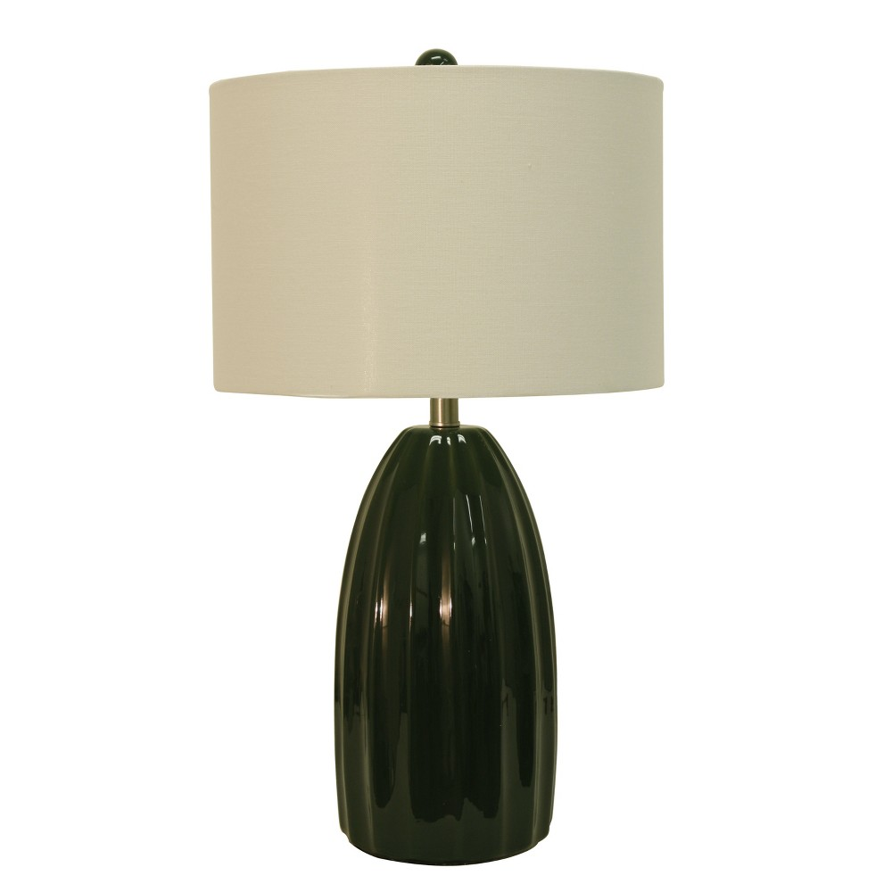 Cannon Crackle Table Lamp Emerald (Green) (Lamp Only) - Decor Therapy