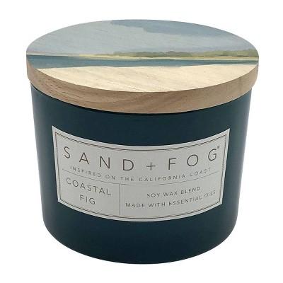 12oz Coastal Fig Scented Candle - Sand + Fog