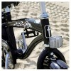 """Firmstrong Mini Bruiser 16"""" Kids' Cruiser Bike with Training Wheels - Black with Red Rims - image 2 of 4"""