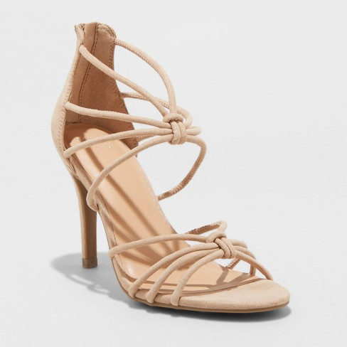 1a0d25ed39c4 Women s Kylin Caged Wide Width Heel Pumps - A New Day™ Taupe 6.5W ...