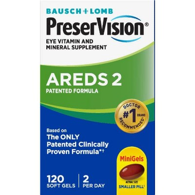 PreserVision Areds 2 Eye Vitamin and Mineral Softgels - 120ct