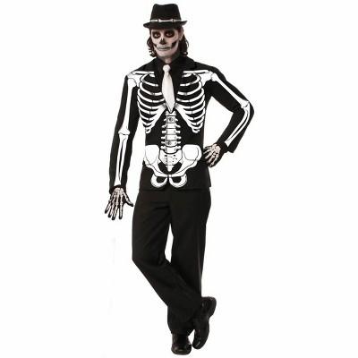 Skeleton Bones Adult Costume Jacket