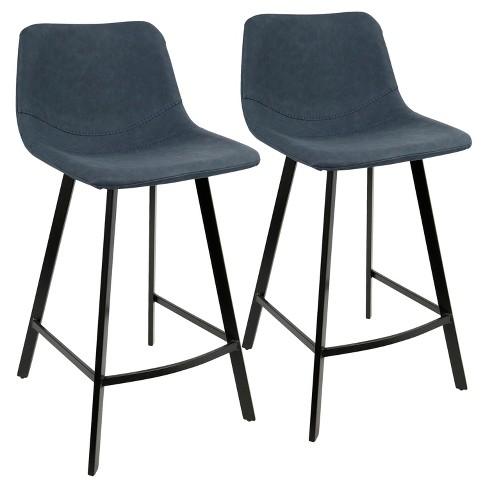 Phenomenal Outlaw Industrial 26 In Counter Stool Blue Set Of 2 Lumisource Inzonedesignstudio Interior Chair Design Inzonedesignstudiocom