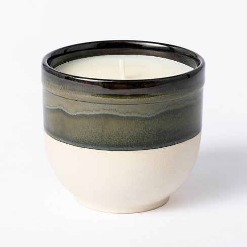 Citornella Ceramic Clay 1 Wick Candle Glossy Gray - Threshold™ designed with Studio McGee - image 1 of 4