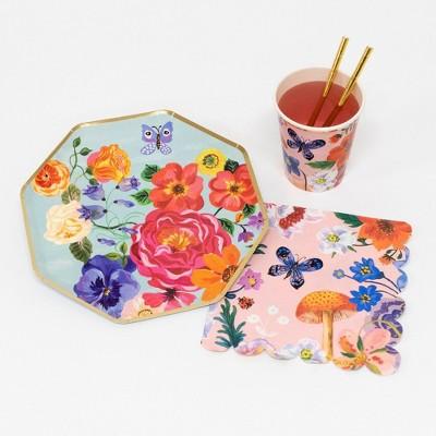 Meri Meri - Nathalie Lete Party Supplies Collection (Plate, Napkin, Cup) - Set of 8