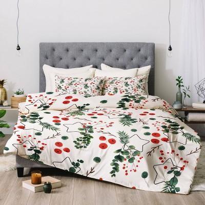 Christmas Botany Comforter Set - Deny Designs
