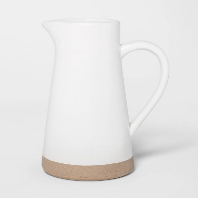 8.5  x 4.8  Ceramic Pitcher White - Threshold™