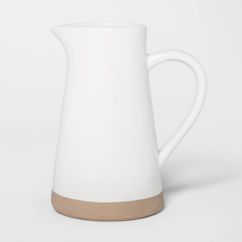 "8.5"" x 4.8"" Ceramic Pitcher White - Threshold™ - image 1 of 2"