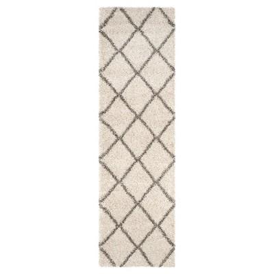Hudson Shag Rug - Ivory/Gray - (2'3 X8')- Safavieh®