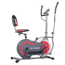 Body Flex Sports Body Power Trio Trainer 3 In 1 Elliptical and Bicycle Machine