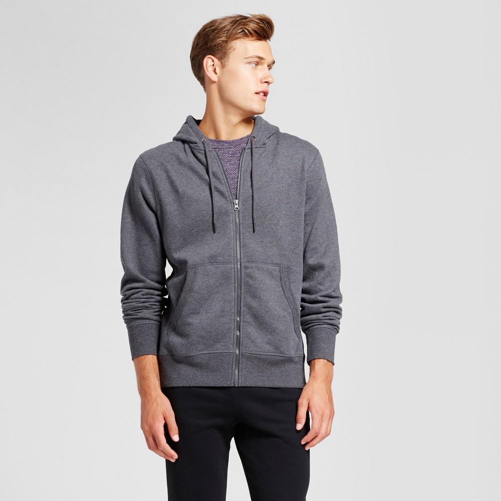 Men's Authentic Fleece Sweatshirt Full Zip - C9 Champion Charcoal Heather Xxl