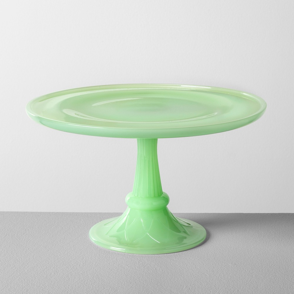 Milk Glass Cake Stand Green - Hearth & Hand with Magnolia