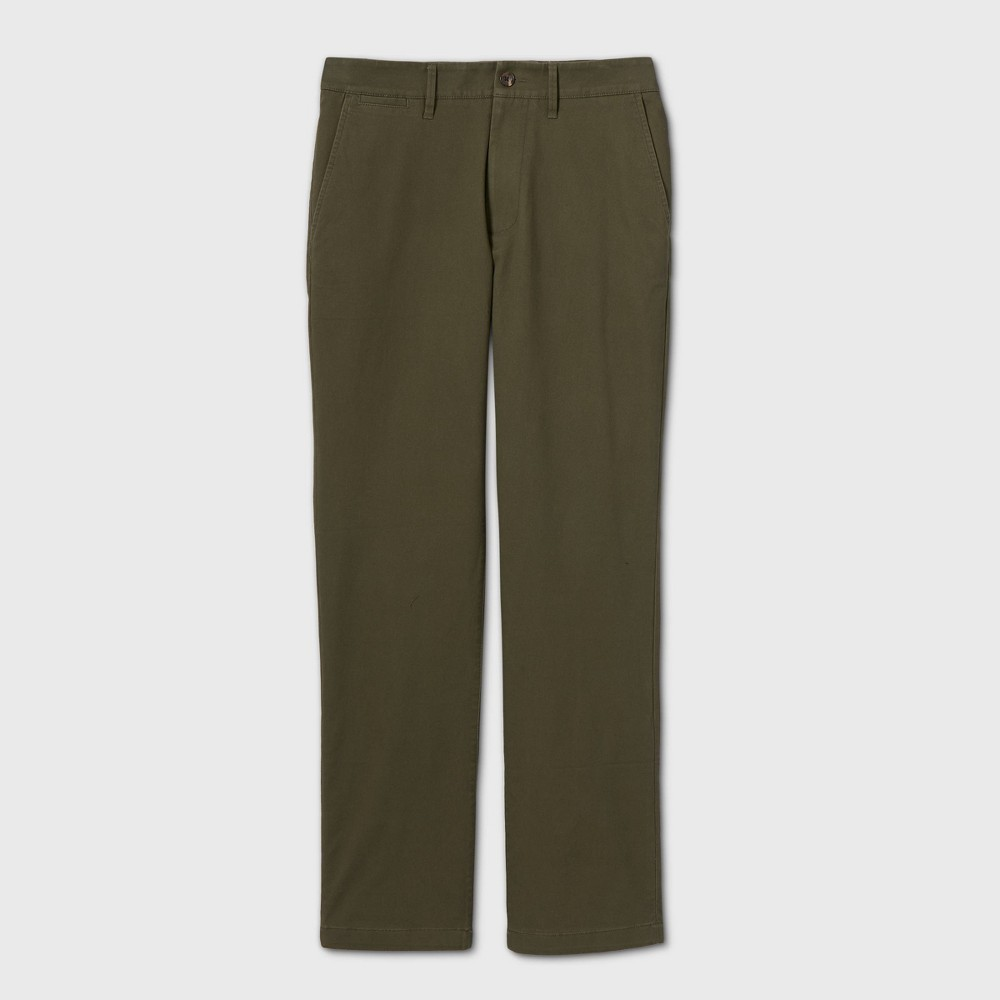 Men 39 S Straight Fit Chino Pants Goodfellow 38 Co 8482 Green 33x30